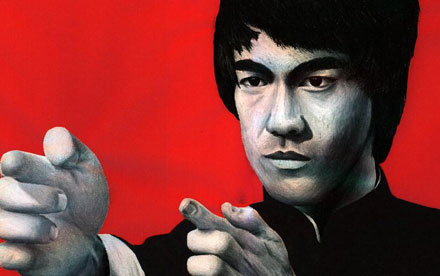 Bruce Lee pencil crayon art